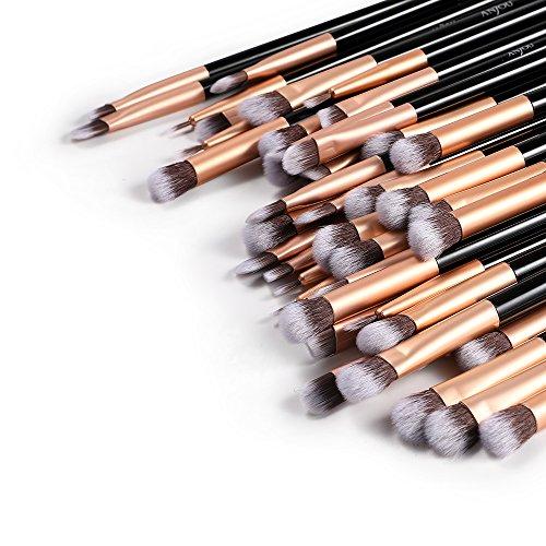 Augen Pinsel Set, Anjou 5 Stück samtige Make Up Pinsel mit Kunstfaser, 10 Sets für faszinierende...