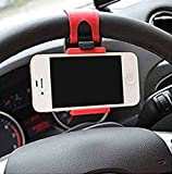 #9: VOLTAC 54-76mm Car Steering Wheel Mobile Holder(Multicolour)