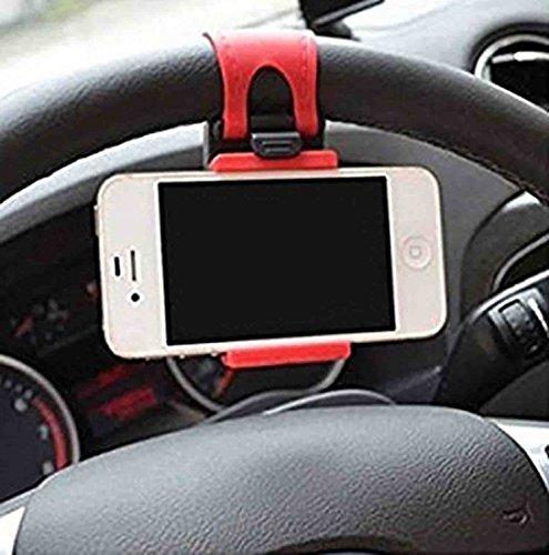 GKP Products ® 54-76mm Car Steering Wheel Mobile Holder (Multi-color) Model 410917