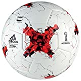 adidas Erwachsene Confederations Cup Replica Fußball, Top:White/Bright Red/Black Bottom:Silver Metallic/Pantone, 5