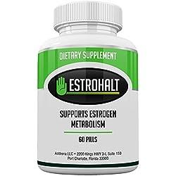 Estrohalt- Östrogen Blocker Pillen für Frauen und Männer mit DIM (diindolylmethane) und Indol-3-Carbinol | Natürliche Aromatase Inhibitor Vitamin Ergänzungen zur Verringerung der Östrogen Dominanz