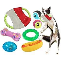 BPS® Pack de Juguetes para Perro, 7 Pcs Juguete Mascotas para Perros Animales Domésticos Colores se envian al azar (Al Azar Modelo 1) BPS-1358*1