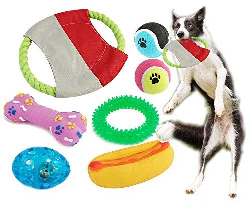 BPS Pack de Juguetes para Perro, 7 Pcs Juguete Mascotas para Perros Animales Domésticos Colores se envian al azar (Al Azar Modelo 1) BPS-1358*1