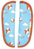 Priebes August Gurtpolster-Set für Buggy Kinderwagen   Universale Gurtpolster für alle handelsüblichen Kinderwagen Buggy und Sportwagen   100% Baumwolle waschbar, Design:ballons aqua