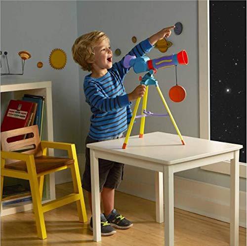 WLWLEO Juguetes Alumnos Monoculares HD Exploración Ciencia de Telescopio niños de 10 Veces los niños, para los niños 4-6 años,Color1