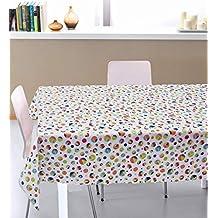 ☆Mantel exclusivo rectangular 100% algodón teñido natural, Mantel moderno rectangular para mesa a
