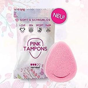 PINK TAMPONS – 11 Stück – Perioden Schwamm, Schwammtampon, SPORT, SWIM, SPA LOVE | Made in Germany