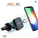 SILTREE 360 Degree Reusable AC Vent Magnetic Mobile Holder for Car Dashboard, Small