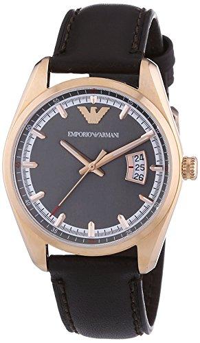 Emporio Armani Men's Quartz Watch AR6024 AR6024 with Leather Strap
