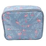 Lalang Grauer Flamingo Kulturtasche zum Aufhängen, Faltbarer Reise Kulturbeutel, Multifunktionale Toilettentasche, platzsparende Kosmetiktasche, Waschtasche, Waschbeutel für Herren, Damen