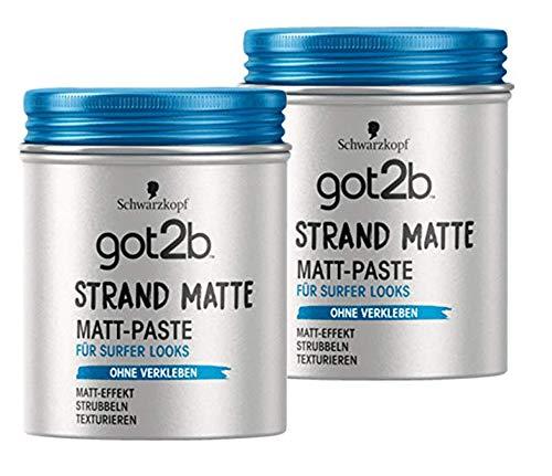 Schwarzkopf Haargel Haarstyling got2b Strand Matte Matt-Paste (2 Dosen)