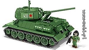 COBI - T-34/85, Tanque Mediano, Color Verde (2476)