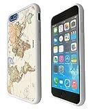 iphone 6 4,7 'Cool Fun World Carte du monde 178 Design aspect Cellbell Coque en SILICONE rigide et les côtés et le dessus