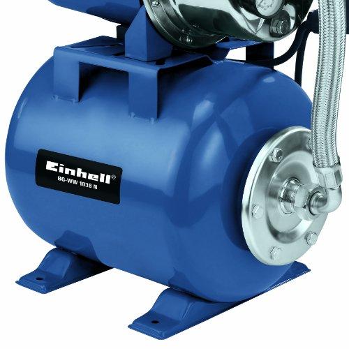 Einhell Hauswasserwerk BG-WW 1038 N (1000 W, 3800 l/h Fördermenge, 20 l Behälter, Edelstahlpumpengehäuse, Manometer) - 2
