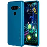 LG V50 ThinQ Hülle, LG V50 Hülle, Goospery [Slim Fit] i-Jelly [Metallic Finish] Gummi-TPU Hülle [Flexible] Bumper Cover, blaumetallic