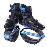 GxYue Unisex Fitness Jump Schuhe Bounce Schuhe - Anti-Schwerkraft-Laufstiefel für Erwachsene, Jugendliche & Kinder für Fitness, Laufen, Basketball Jump (Color : Blau, Size : M)