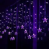Lianqi Lila Stern Lichtstreifen 3.5 Meter 96LED Violett Halloween Fairy String Lights Weihnachten Hochzeit Home Garten Baum Decoration und EU Stecker