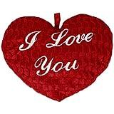 Plüschkissen in Herz Form Plüschherz Herzkissen Herz Riesig 45 cm Rot I love you