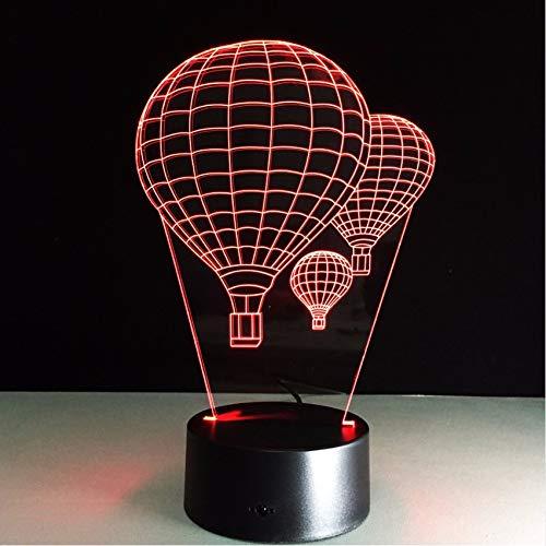 Djkaa 7 Farbe Heißluft Ballon Lampe 3D Visuelle Led-Nachtlichter Für Kinder Touch UsbTischlampe Baby Schlafen Nachtlicht