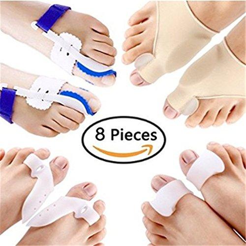 Ndier 8pcs/set allineamento alluce valgo correttore toe separatore cura dei piedi sollievo dal dolore alluce valgo maniche salute bellezza
