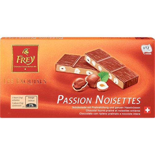 Schokolade - mit Pralinenfüllung - 'Les Exquises Passion Noisettes' von Chocolat Frey Schweiz - 100g, aus dem Traditionshaus Frey