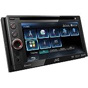 JVC KW-AV61BTE(KW-AV61BT) - DVD/CD/USB-Receiver mit Bluetooth-Technologie und 6,1  Touch-Panel-Breitbildschirm mit VGA-Auflösung
