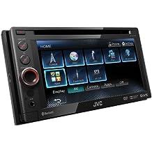 JVC KW-AV61BT Sintolettore Doppio DIN DVD/DivX/USB 1A, Bluetooth, Schermo da 6.1 Pollici, Compatibile iPod/iPhone, Nero - Potenza Fet
