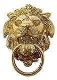 Delhitraderss Bullet Brass Made Large Lion Badge Emblem For Rear Fender For Royal Enfield Bullet Classic 500