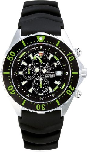 Chris Benz Uhr Taucheruhr Depthmeter Chronograph CB-C300-G-KB
