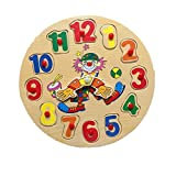 Wooden Puzzle Functional,Clock Puzzle Baby Learning Toys 2017 New Buyby (003)