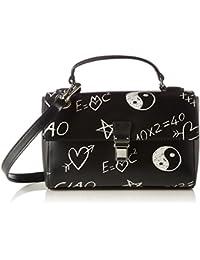 Love Moschino - Borsa Calf Pu Nero, Carteras de mano Mujer, Schwarz (Black), 15x25x7 cm (W x H D)