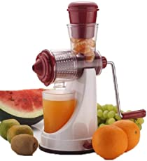 Evergrow Super Deluxe Strong Vacuum Poly Carbonate Manual Juicer for Vegetables and Fruits(Multicolour)