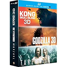 Kong : Skull Island + Godzilla + Tarzan - Coffret Blu-Ray 3d