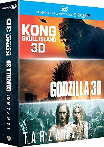 Kong : Skull Island + Godzilla + Tarzan - Coffret Blu-Ray 3d [Blu-ray 3D]
