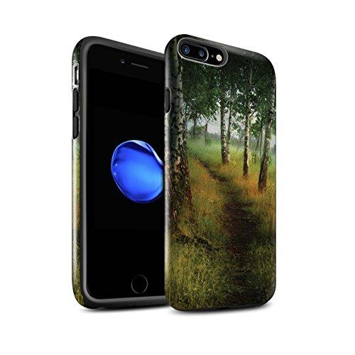 Officiel Elena Dudina Coque / Brillant Robuste Antichoc Etui pour Apple iPhone 8 Plus / Pack 17pcs Design / Fantaisie Paysage Collection Arbre/Sentier