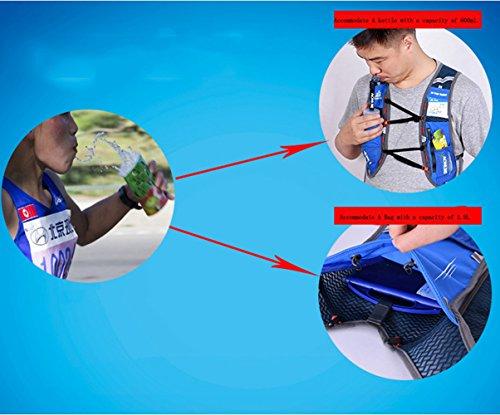 5L-Weste Rucksack blufied Licht Gewicht Trinkblase Tasche mit Reflektierende Streifen für Unisex Frauen Herren Laufen Ski Wandern Fahrrad Blau