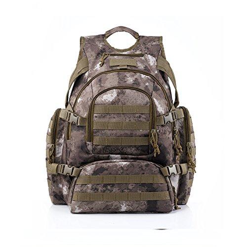 Imagen de yakeda® alpinismo al aire libre los hombres y las mujeres del bolso del bolso de camuflaje bolsa de hombro de gran capacidad bolso  táctica impermeable al aire libre  militares 60l  a88042 camuflaje del desierto