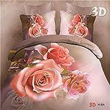 ZHUDJ 3D Vier Stück Bettwäsche 4-Teilig Bettwäsche Bettbezug Drei Stücke Blumenbeet Produkt Kit Aktiv Druck Beutel, Andere Farben, Bitte Hinterlassen Sie Eine Nachricht, 2,0 M (6,6 Fuß) Bed