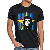style3 Che Guevara T-Shirt Herren Kuba Revolution, Größe:M;Farbe:Schwarz