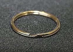 Hilai Split Key Rings Nickel Plated Steel Key Chain Ring(pack of 10) by Hilai
