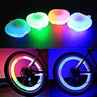 Moppi Rueda de la decoración bici bicicleta lámpara alambre ligero forma de manzana habló lámpara