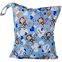 JUNGEN Bolso del pañal Bolso de la Cremallera Impermeable Bolsas de mamá Bolsa del bebé Azul