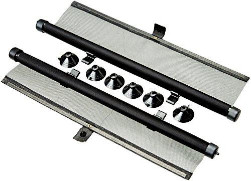 Bottari 22041 Universales Sonnenschutzrollo, Gitternetz mit Klettverschluss, 2 Teile, 45 x 55 cm, Schwarz Net
