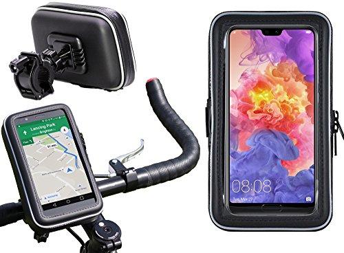Navitech Wasserfeste Fahrrad und Motorrad Halterung Montierung und Case für das Huawei P20