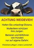 Achtung Weidevieh ! Schild (A4)