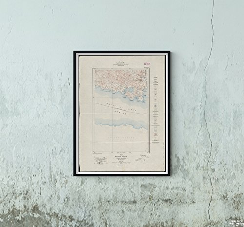 New York Karte Company (TM) 1914Karte Canada|British Columbia|sooke sooke Tabelle, Vancouver Island, British Columbia Relief sh|Historic Antik Vintage Reprint|Ready Zum Rahmen