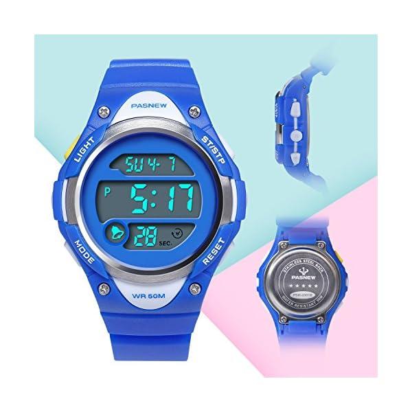 Hiwatch Relojes Deportivos Impermeable para los Ni os Ni as Reloj de Pulsera  Digital a Prueba de Agua 1c5f483681df