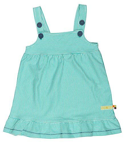 loud + proud Baby-Mädchen Kleider, Ringel, Grün (smaragd) Sm, 68 (62/68)