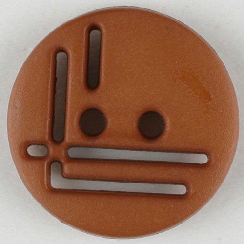 Polyamidknopf, rund, 2 loch - Größe: 14mm - Farbe: braun - Art.Nr. 215705
