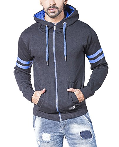 Alan Jones Solid Full Sleeves Men's Sweatshirt (SS-TRIM601-BCK-M_Medium_Black)
